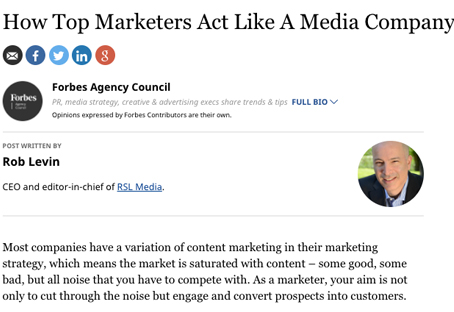 How Top Marketers Act Like A Media Company